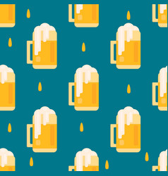 beer mug pattern in flat style vector image