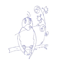 Bird doodles vector image