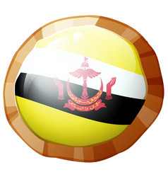 Brunie flag on round frame vector