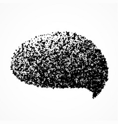 Chat bubble in abstract particles style vector