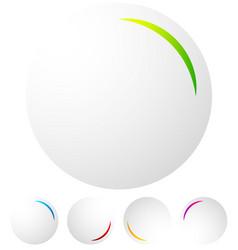 Circular preloader progress indicator at 5 vector