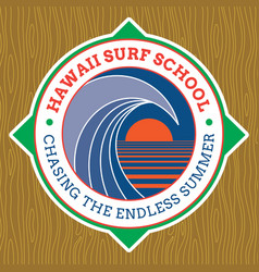 classic surf logo design vector image