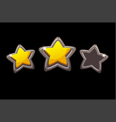 Collection isolated metal stars vector