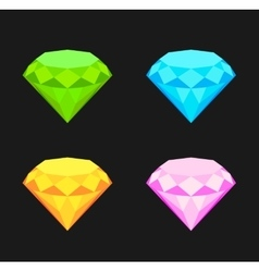 Collection of diamonds vector image