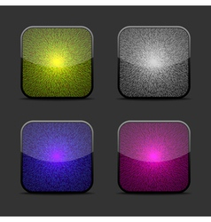 Collection of glow icon templates vector image