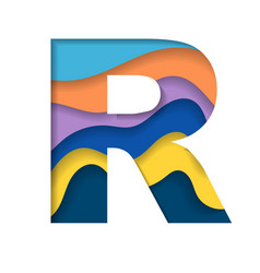 Colorful letter r vector