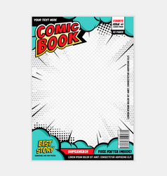 comic book page cover design concept vector image