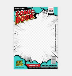 Comic book page cover design concept vector