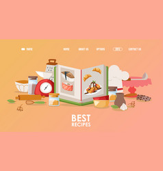 cookbook for landing page vector image