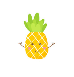 Cute pineapple icon symbol vector