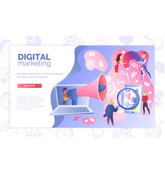 Digital marketing service website template vector