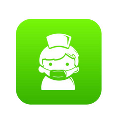 doctor icon green vector image