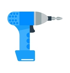 Drill hand tool flat electro tools vector