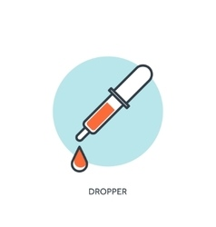Dropper Medical icon First vector