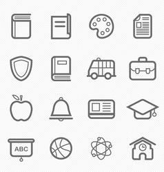 education symbol line icon vector image