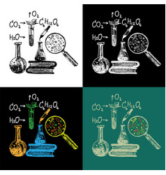 educational and laboratory equipment set vector image