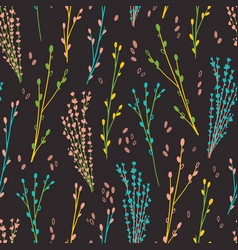 elegant twigs natural cosmetic pattern-01 vector image