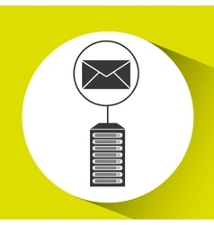 Email data center connection vector