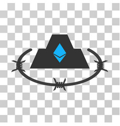 Ethereum barbwire citadel icon vector