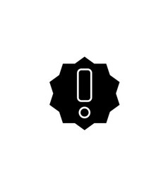 exclamation black icon sign on isolated vector image