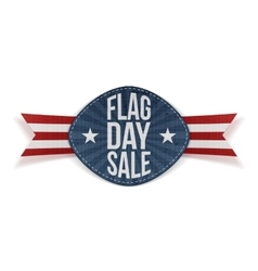 Flag Day Sale greeting Label with Ribbon vector
