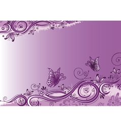 Flowers butterflies background vector