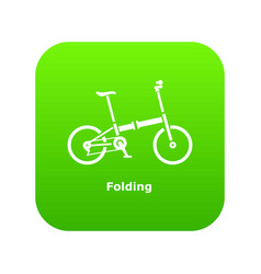 Folding bike icon simple style vector