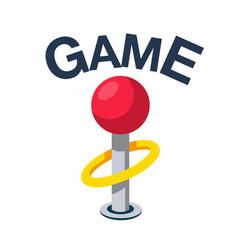 Game classic retro joystick icon image vector