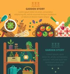 Garden backgrounds for site vector