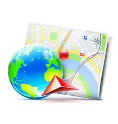 global navigation concept vector image