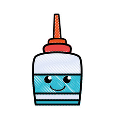 Grated happy and tender glue object kawaii vector