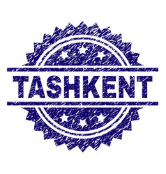 Grunge textured tashkent stamp seal vector