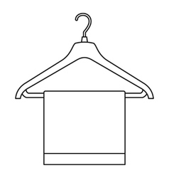 Hanger with cloth icon outline style vector image