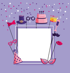 happy birthday letter to celebrate party event vector image