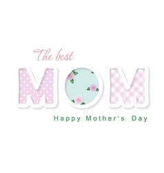 happy mother s day best mom cute cartoon vector image
