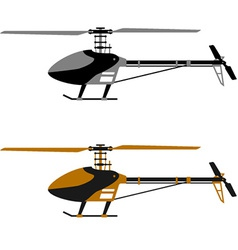 Helicopter rc model icons vector