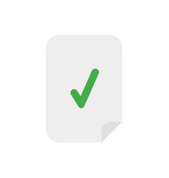 icon concept of paper with check mark vector image