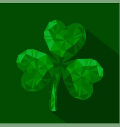 Icon of crystal emerald shamrock vector