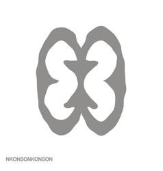 Icon with adinkra symbol nkonsonkonson vector