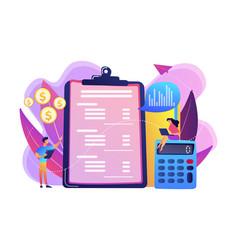 Income statement concept vector