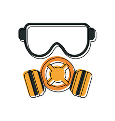industrial security related icon image vector image