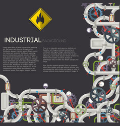 industrial technologic template vector image vector image