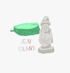 Jeju island in korea vector
