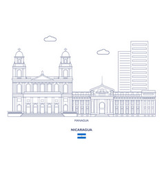 Managua city skyline vector