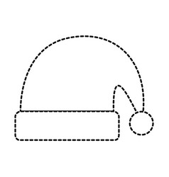 merry christmas hat icon vector image