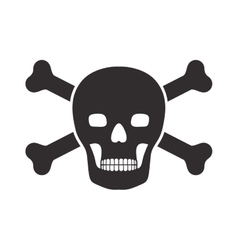 Monochrome silhouette wiht skull and bones vector