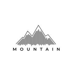 Mountain logo design templatecreative stones icon vector