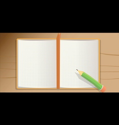 notebook pencil vector image