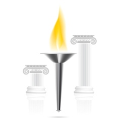 olympic flame vector image vector image