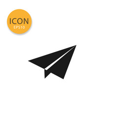 origami plane icon isolated flat style vector image